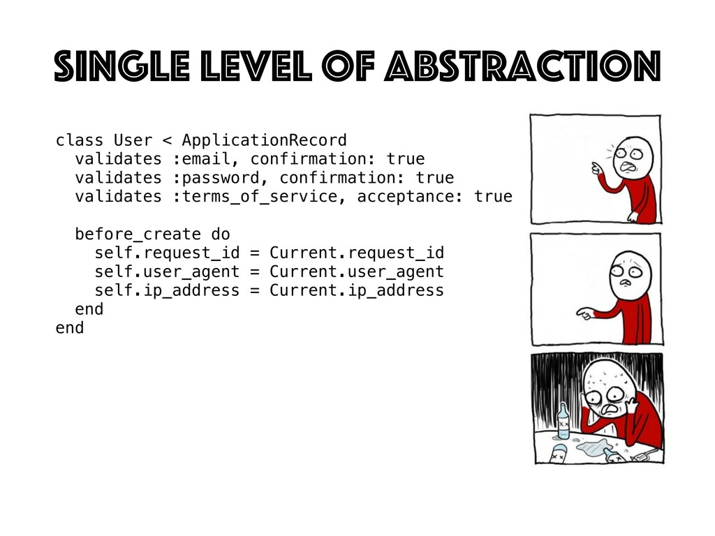 SInGle level of abstraction
