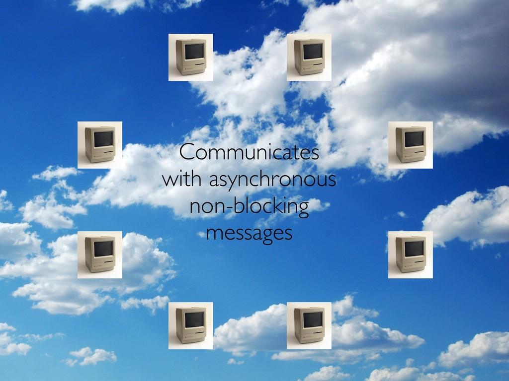 Communicates with asynchronous non-blocking mes...