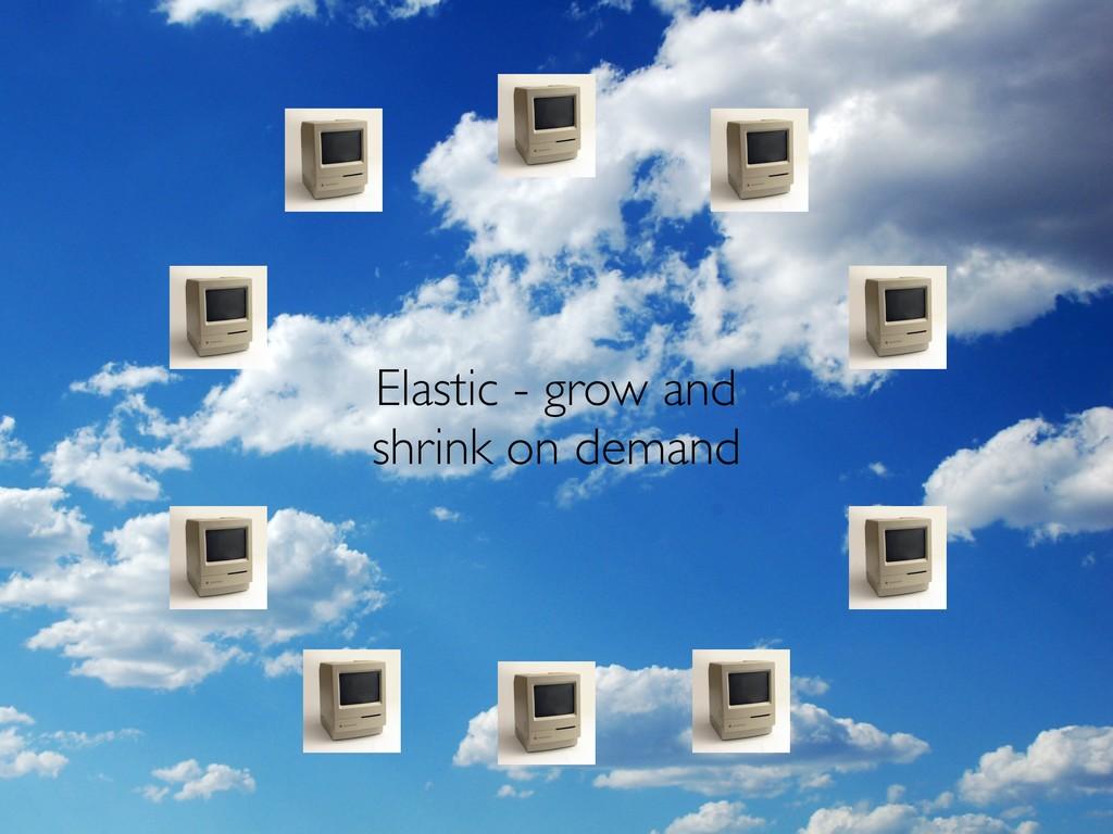 Elastic - grow and shrink on demand