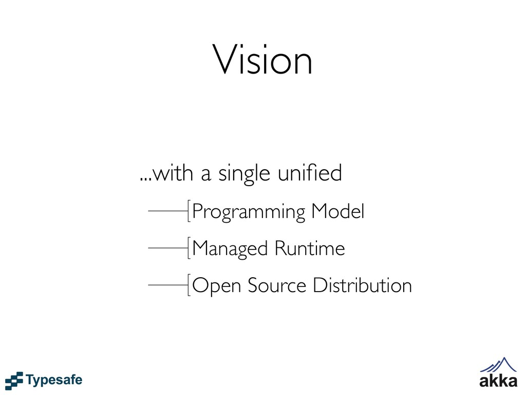 Vision ...with a single unified Programming Mode...