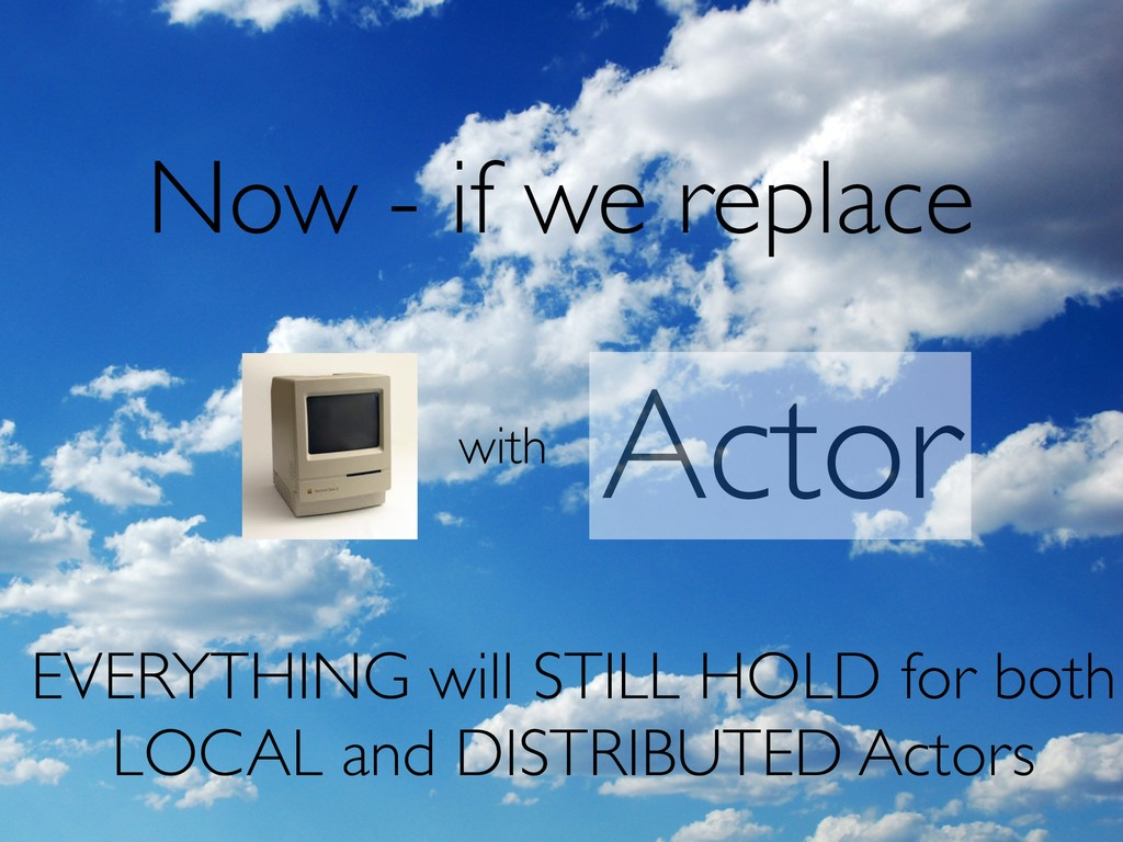 Now - if we replace with Actor EVERYTHING will ...