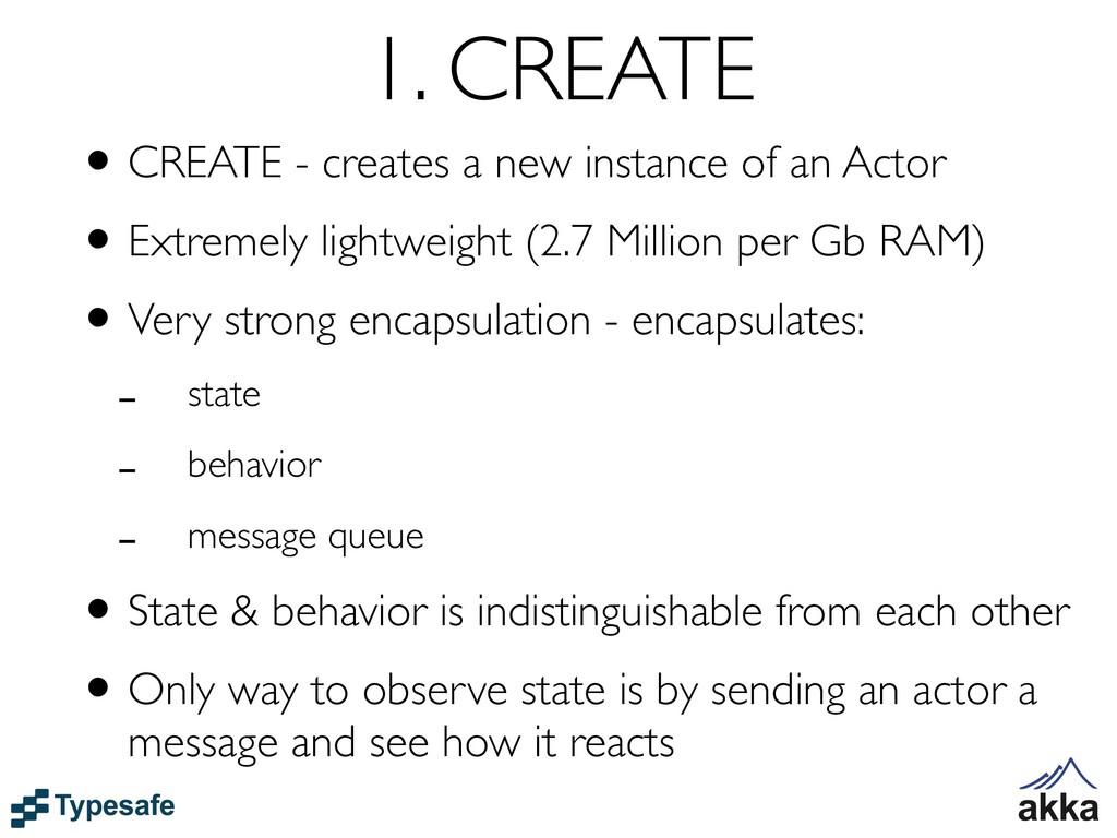 1. CREATE •CREATE - creates a new instance of a...