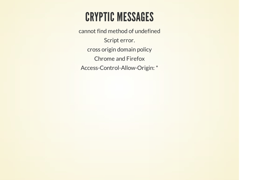 CRYPTIC MESSAGES cannot find method of undefine...