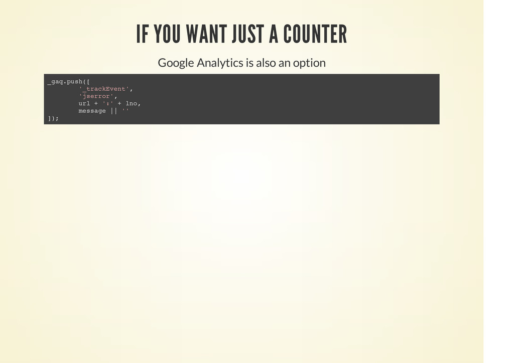 IF YOU WANT JUST A COUNTER Google Analytics is ...