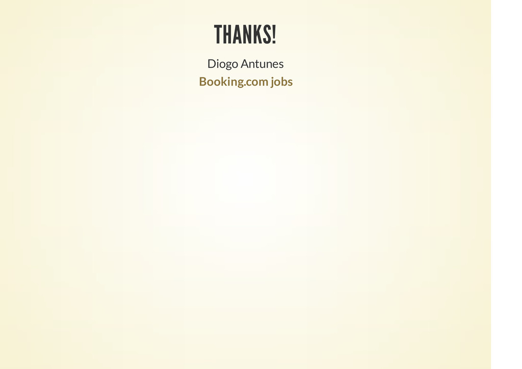 THANKS! Diogo Antunes Booking.com jobs