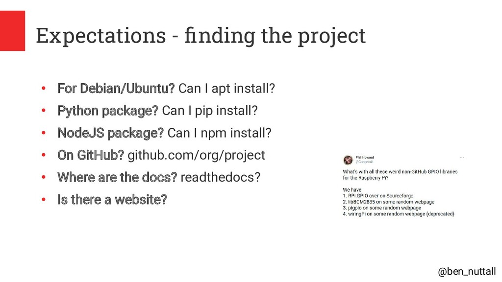 @ben_nuttall Expectations - finding the project...