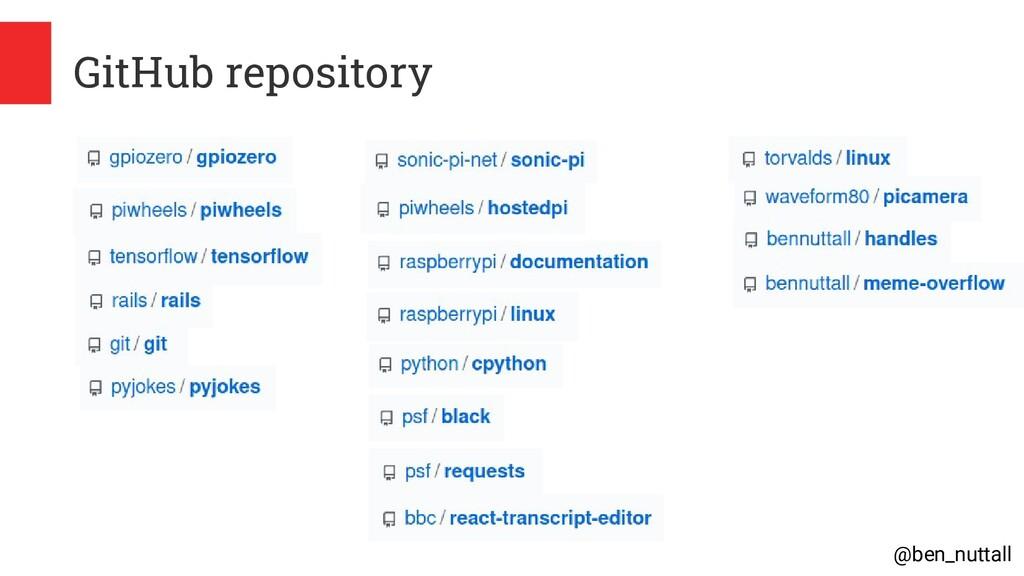 @ben_nuttall GitHub repository
