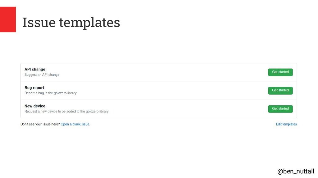 @ben_nuttall Issue templates