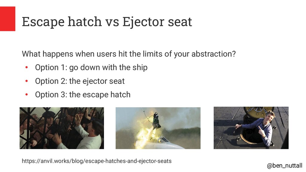 @ben_nuttall Escape hatch vs Ejector seat What ...
