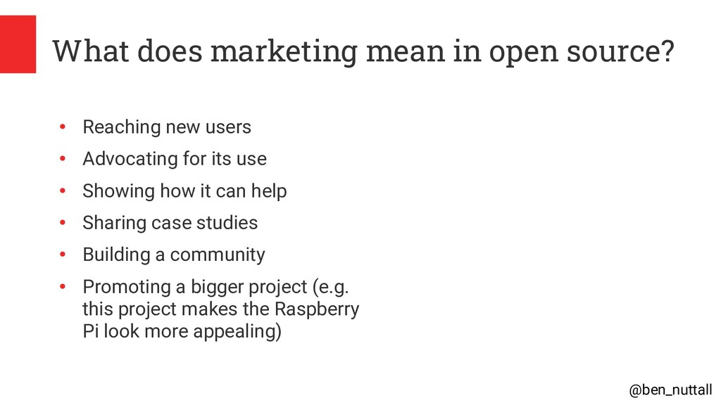 @ben_nuttall What does marketing mean in open s...