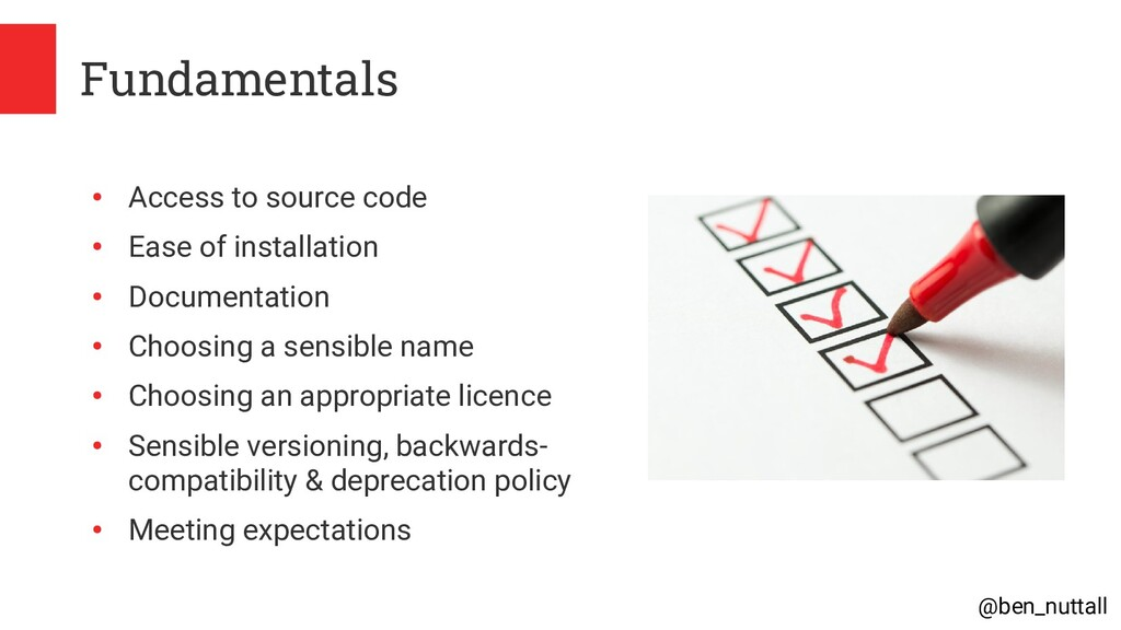 @ben_nuttall Fundamentals ● Access to source co...