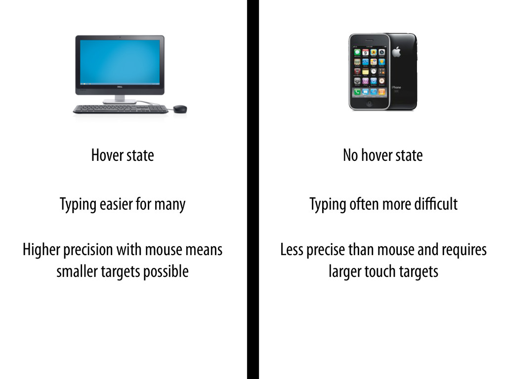 Higher precision with mouse means smaller targe...