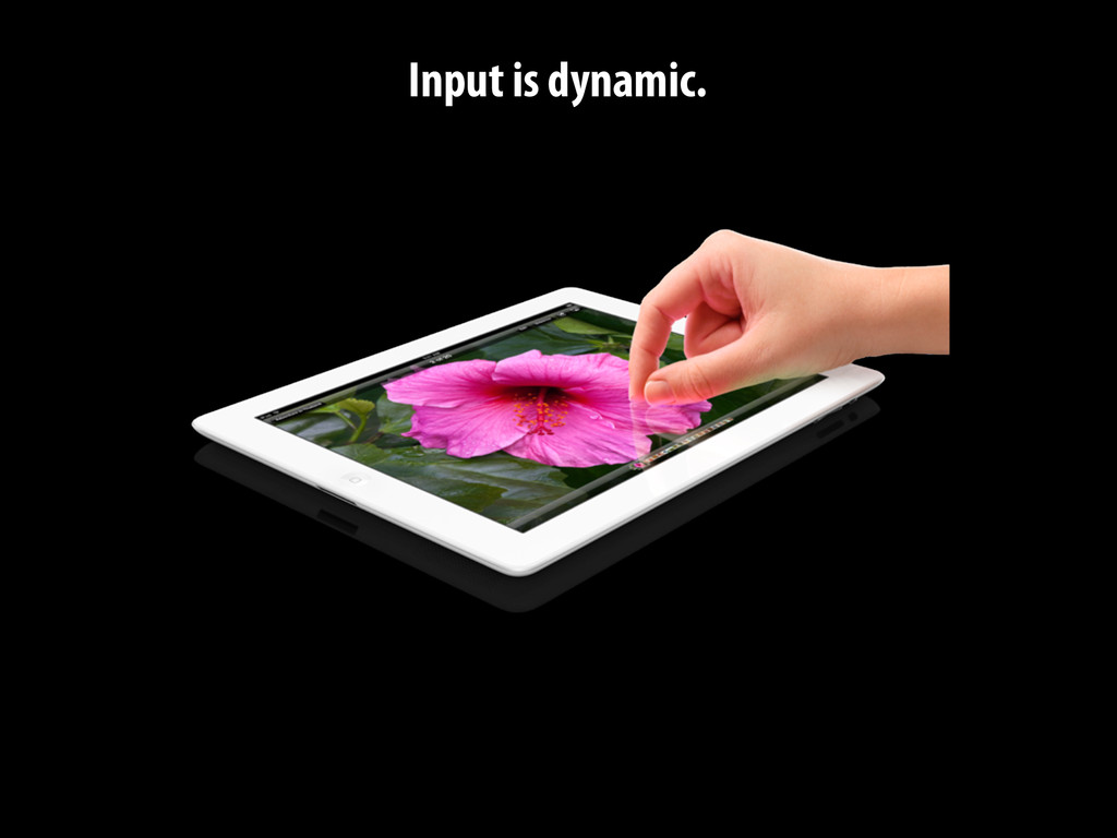 Input is dynamic.