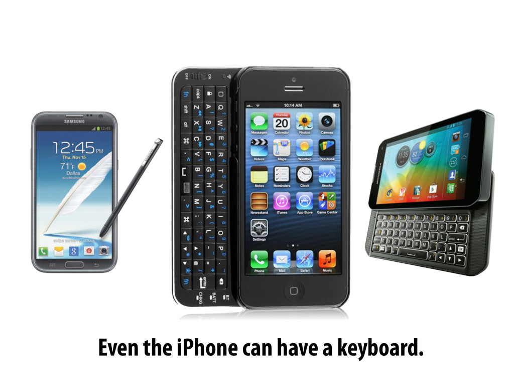 Even the iPhone can have a keyboard.