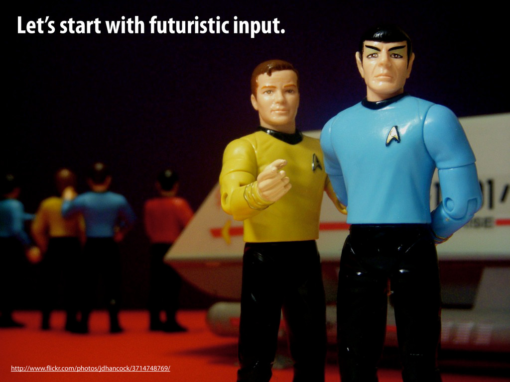 Let's start with futuristic input. http://www.f...