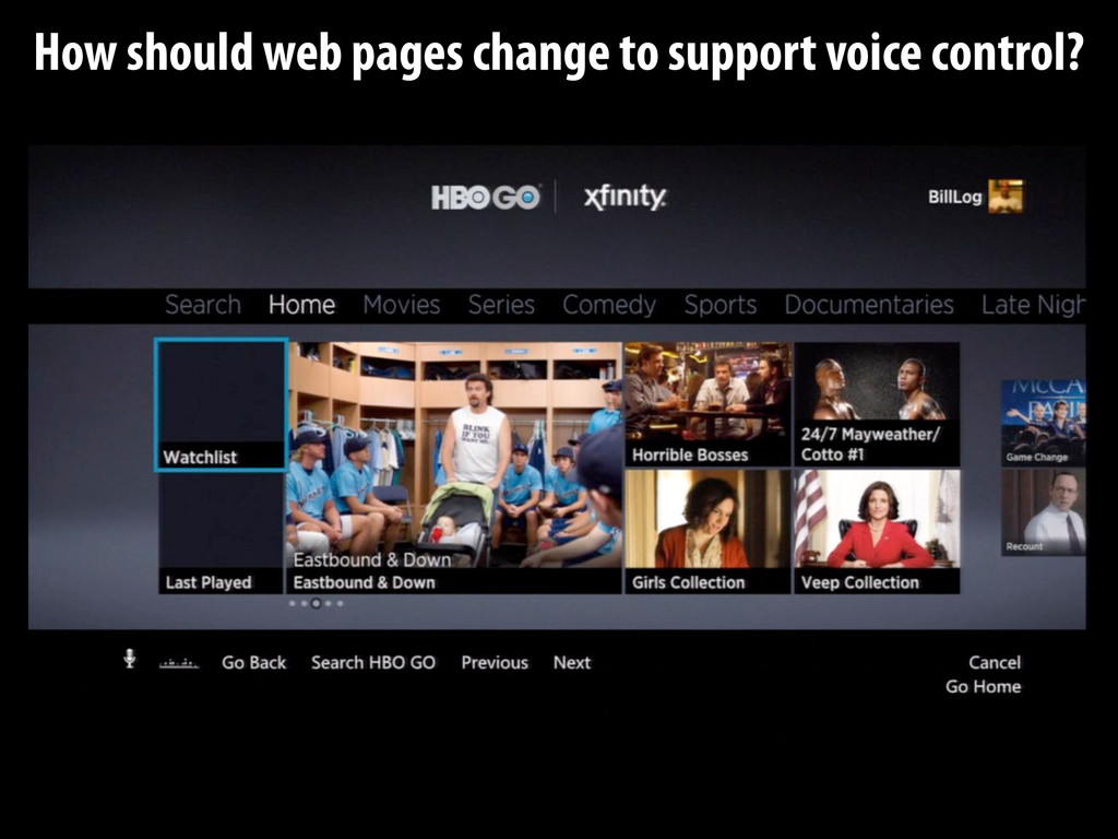 How should web pages change to support voice co...