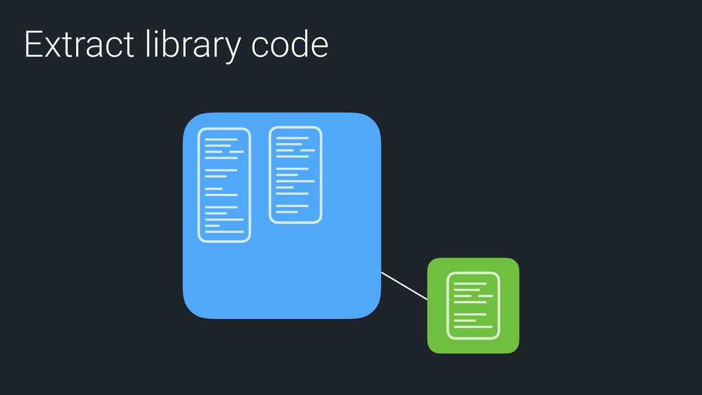 Extract library code