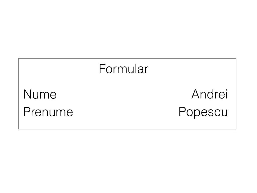 Nume Andrei Prenume Popescu Formular