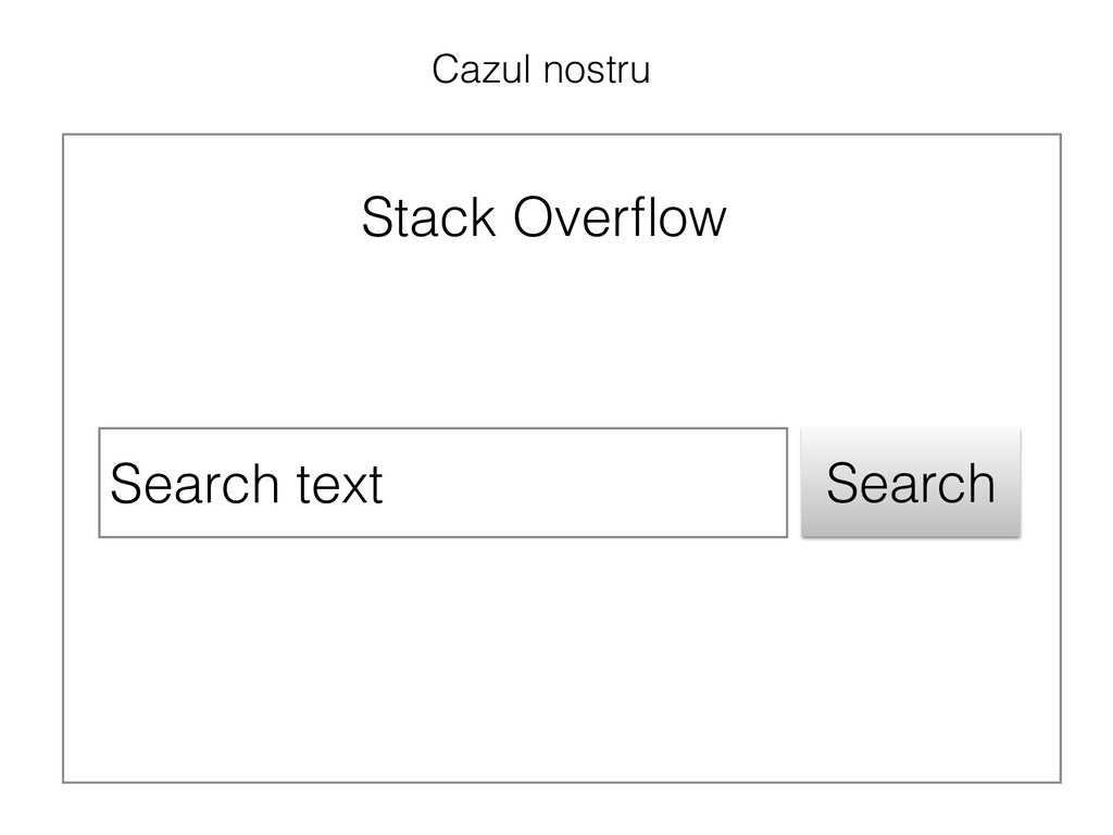 Search text Search Stack Overflow Cazul nostru