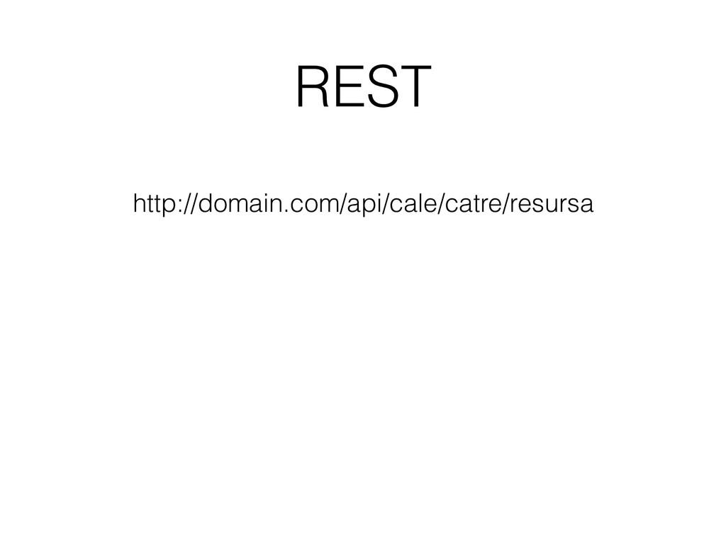 REST http://domain.com/api/cale/catre/resursa