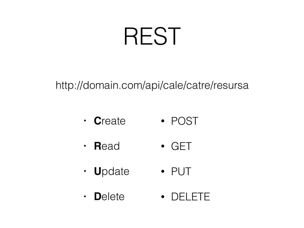 REST • Create • Read • Update • Delete • POST •...