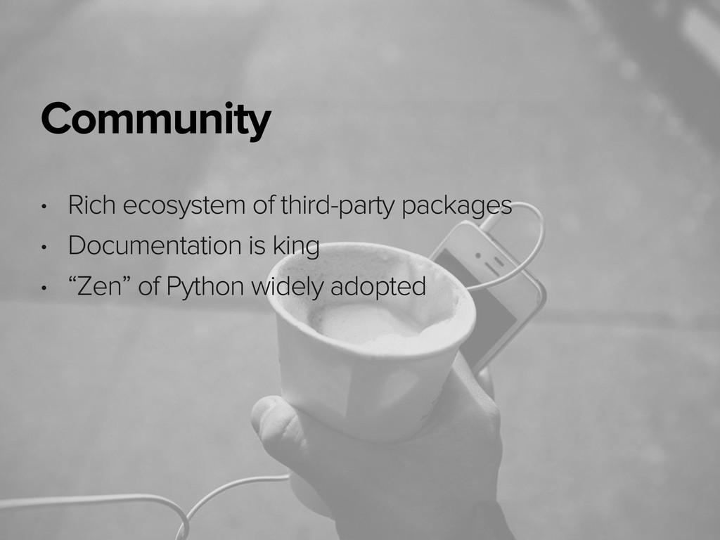 November 3, 2014 Community • Rich ecosystem of ...