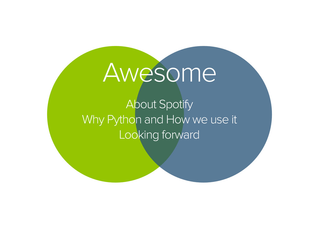 Awesome About Spotify Why Python and How we use...