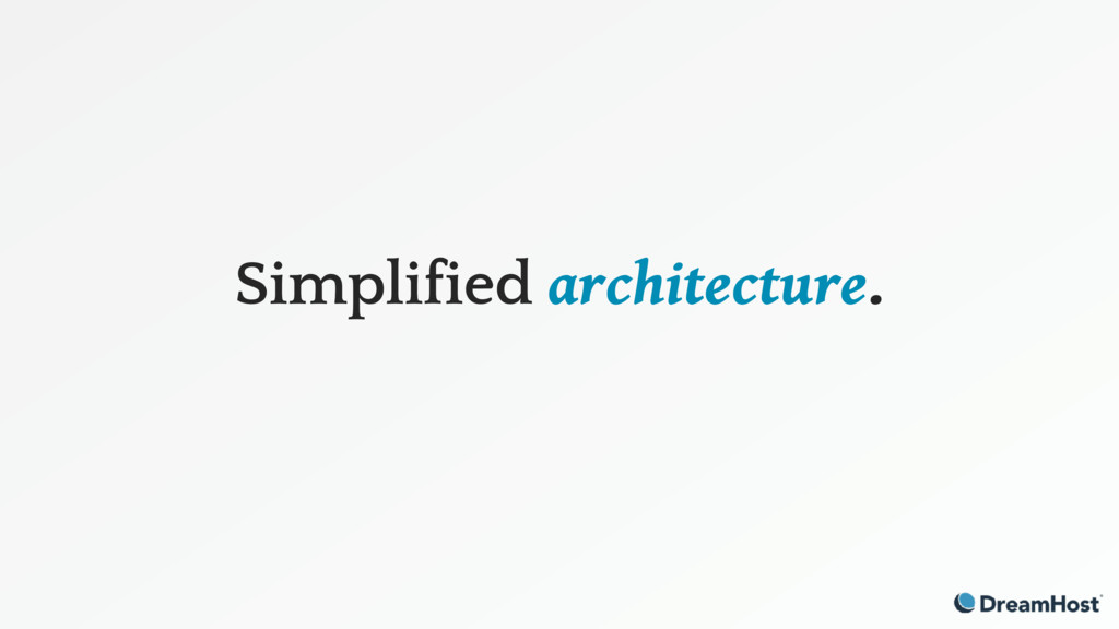 Simplified architecture.