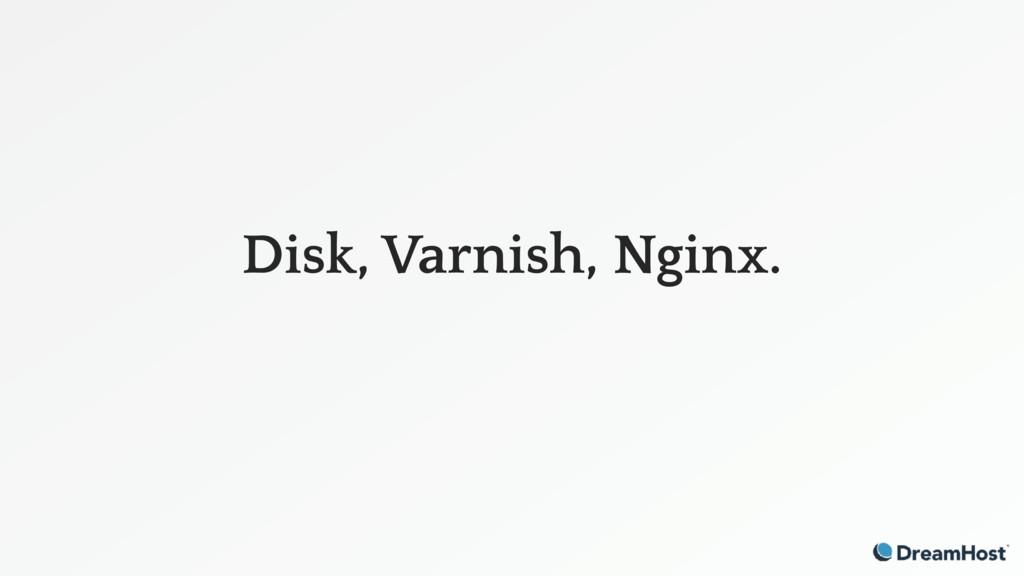 Disk, Varnish, Nginx.