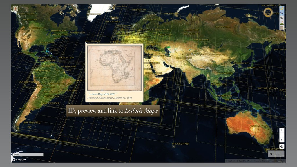 ID, preview and link to Leibniz Maps