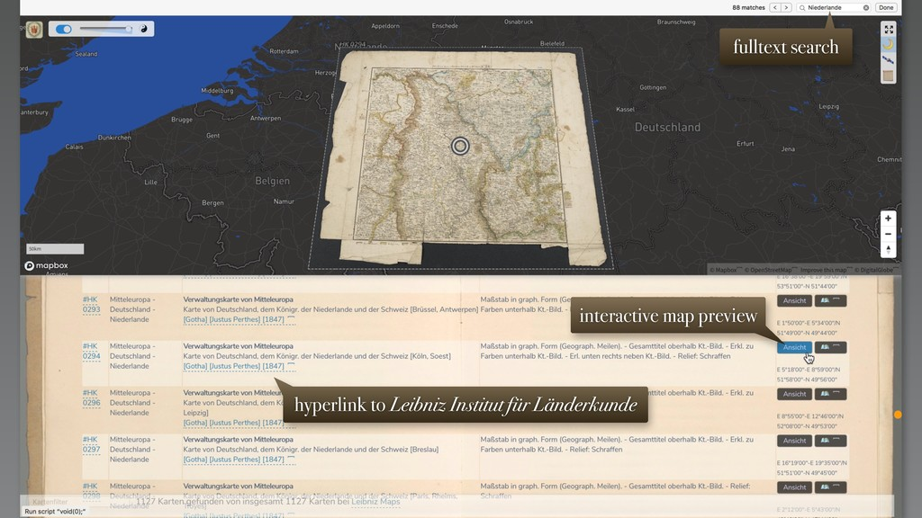 interactive map preview hyperlink to Leibniz In...