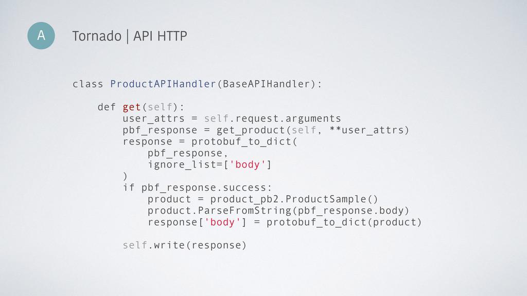 A Tornado | API HTTP class ProductAPIHandler(Ba...