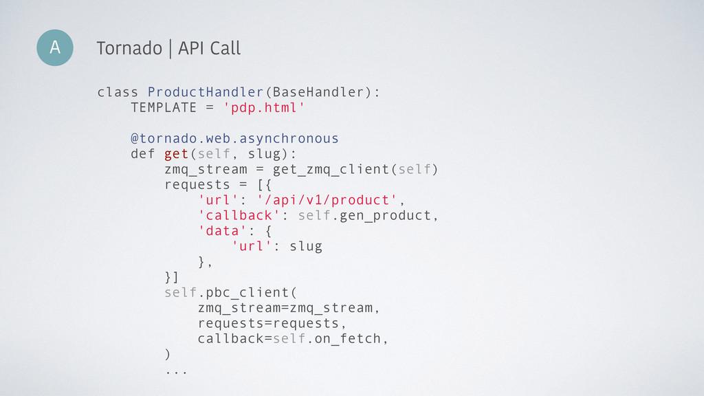 A Tornado | API Call class ProductHandler(BaseH...
