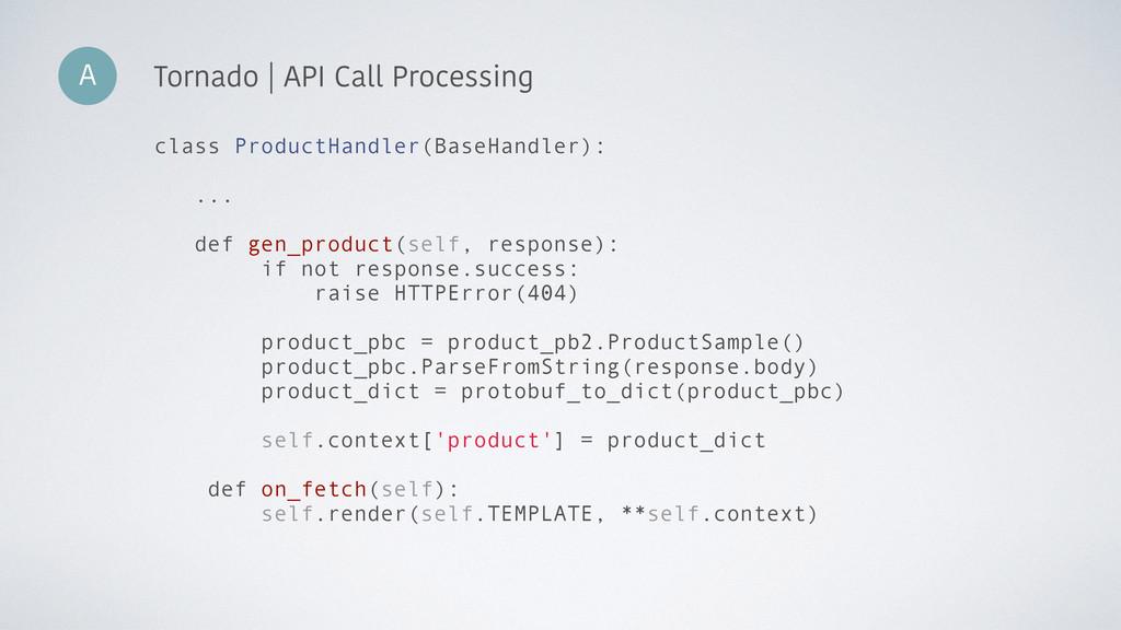 A Tornado | API Call Processing class ProductHa...