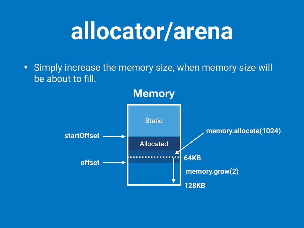 • Simply increase the memory size, when memory ...