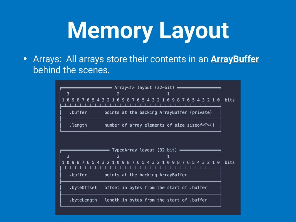 Memory Layout • Arrays: All arrays store their ...
