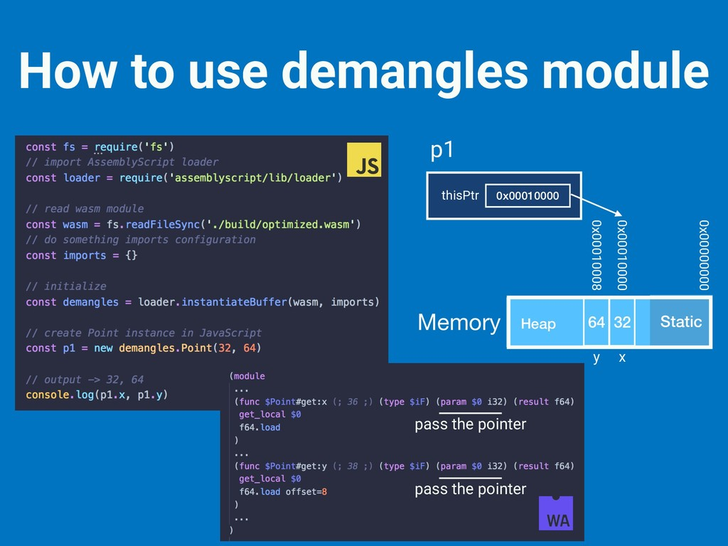 How to use demangles module Static Heap Memory ...