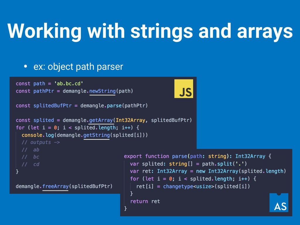 Working with strings and arrays • ex: object pa...