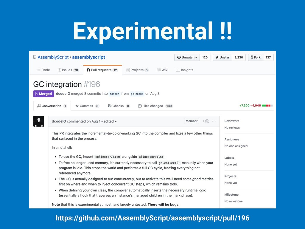 Experimental !! https://github.com/AssemblyScri...