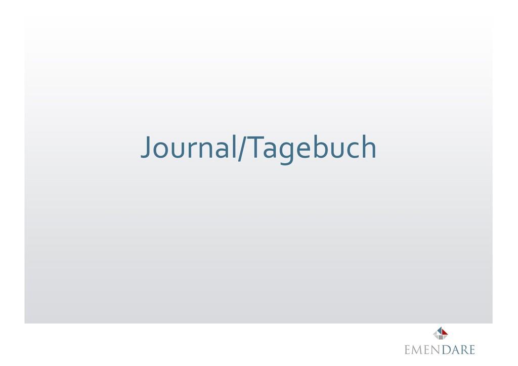 Journal/Tagebuch