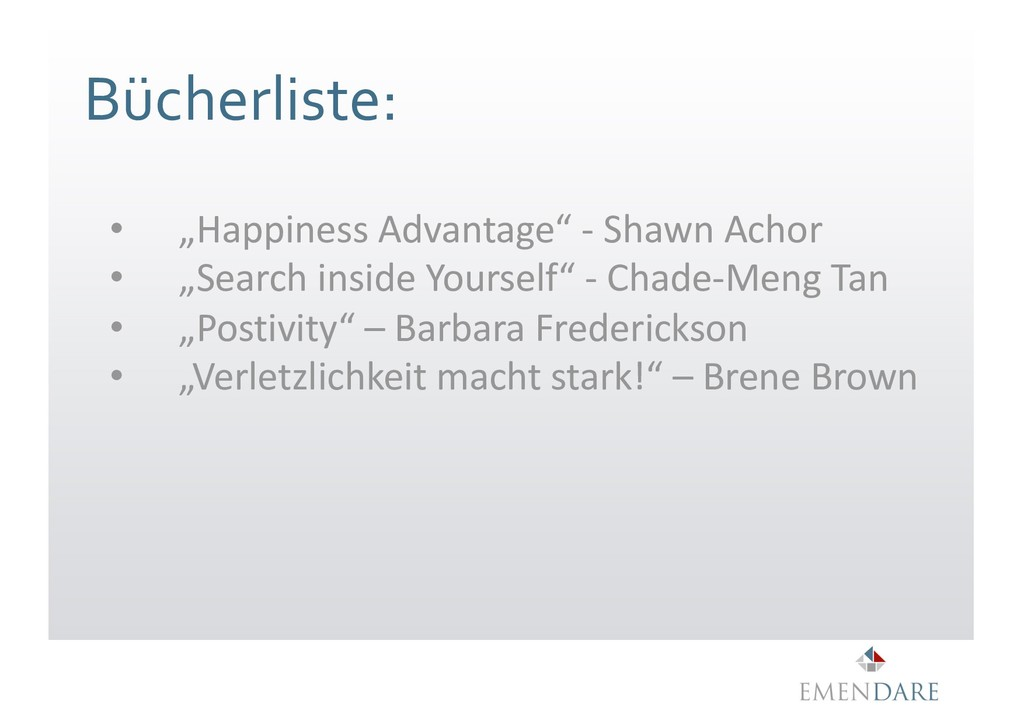 "Bücherliste: • ""Happiness Advantage"" - Shawn Ac..."