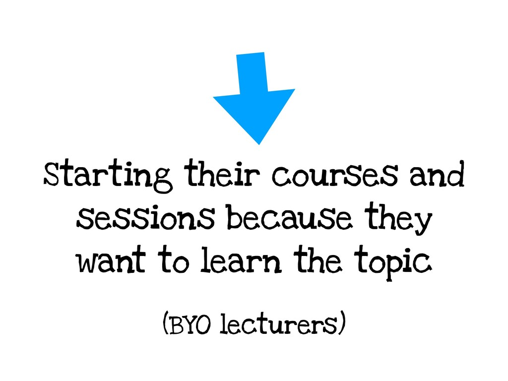 Starting their courses and sessions because the...