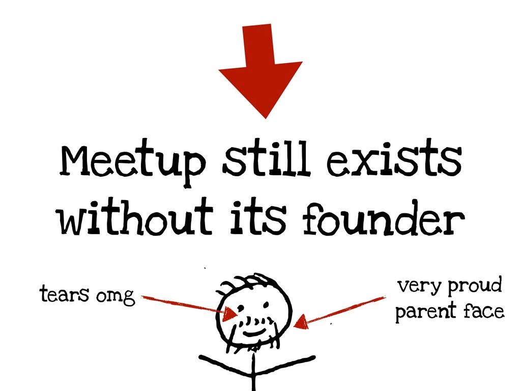Meetup still exists without its founder very pr...