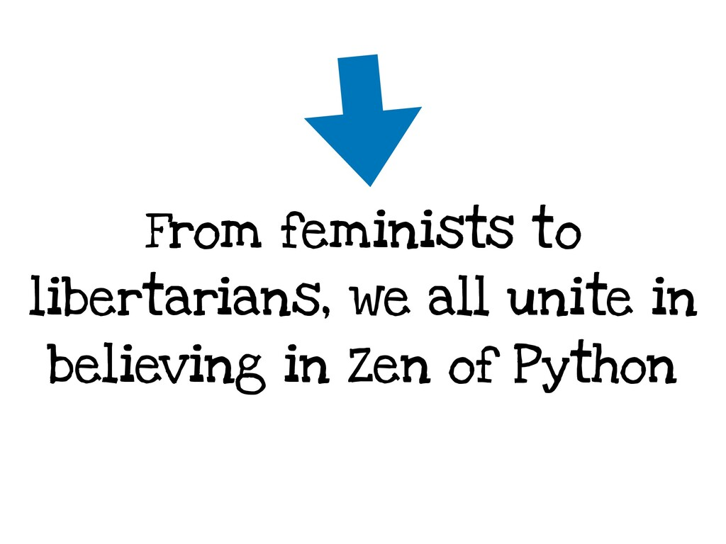 From feminists to libertarians, we all unite in...
