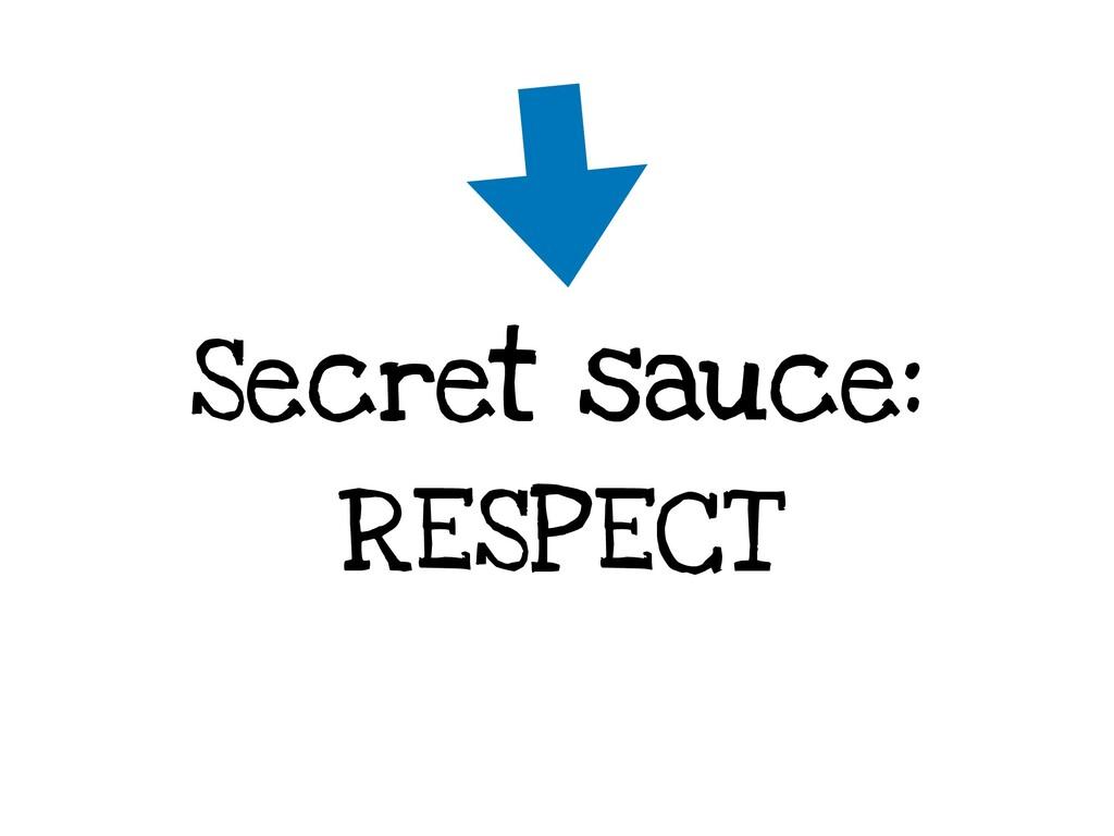 Secret sauce: RESPECT