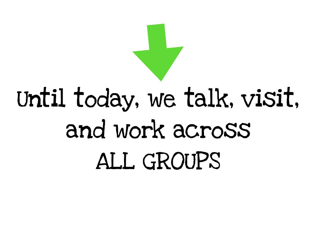 Until today, we talk, visit, and work across AL...