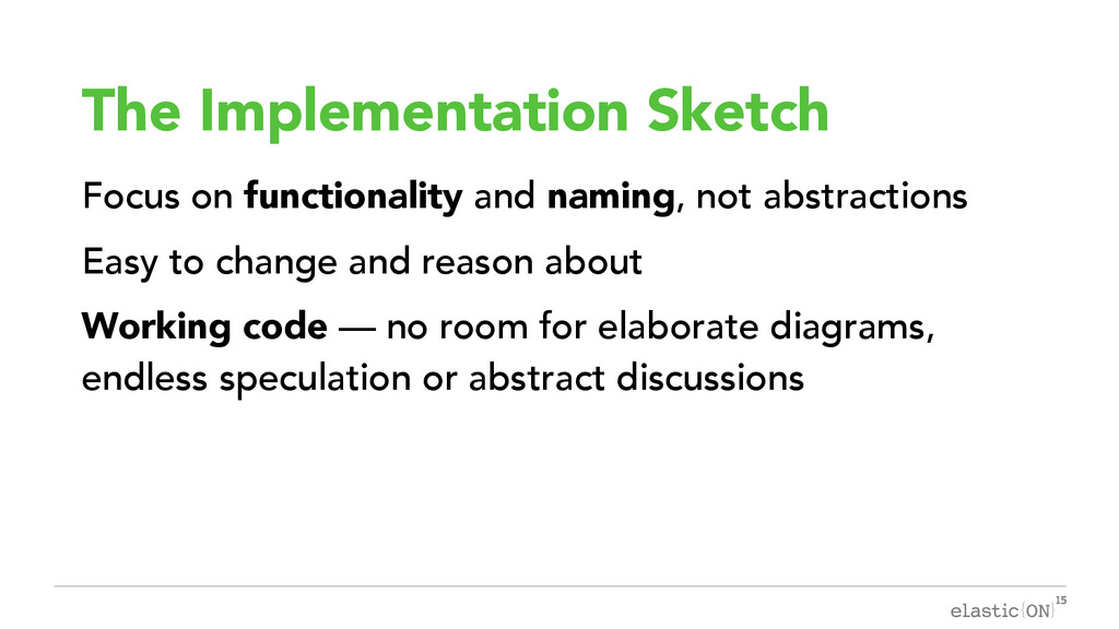 { } The Implementation Sketch Focus on function...