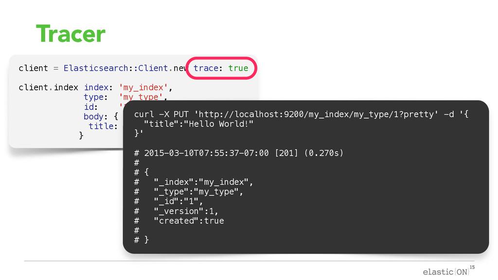 { } Tracer client = Elasticsearch::Client.new t...
