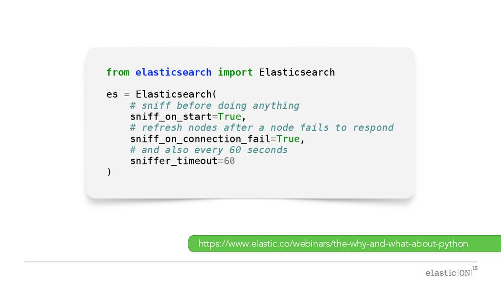 { } from elasticsearch import Elasticsearch es ...