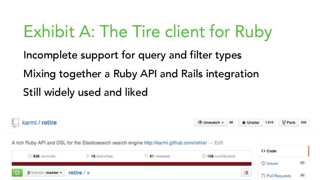 { } Exhibit A: The Tire client for Ruby Incompl...
